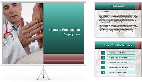 Doctor examining his patient's PowerPoint Template
