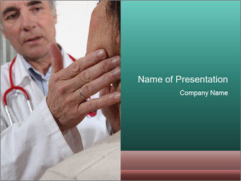 Doctor examining his patient's PowerPoint Template - Slide 1