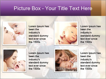Baby drinking milk PowerPoint Templates - Slide 14