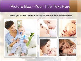 Baby drinking milk PowerPoint Templates - Slide 19
