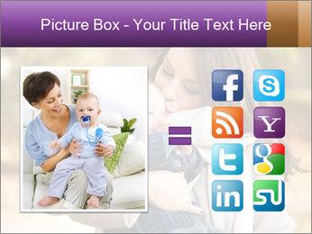 Baby drinking milk PowerPoint Templates - Slide 21