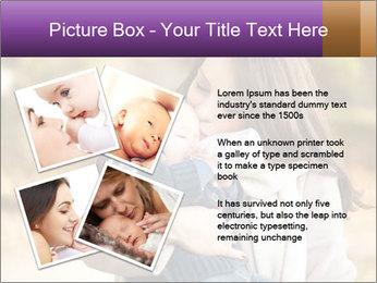 Baby drinking milk PowerPoint Templates - Slide 23