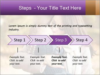 Baby drinking milk PowerPoint Templates - Slide 4
