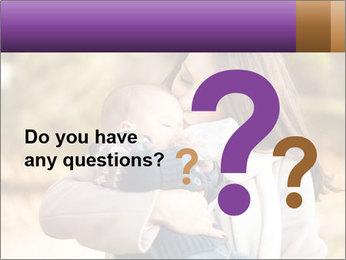 Baby drinking milk PowerPoint Template