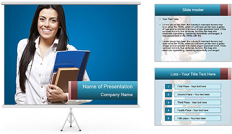 Pretty MBA Student PowerPoint Template