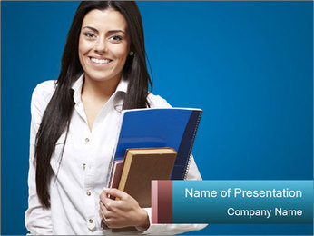Pretty MBA Student PowerPoint Template - Slide 1