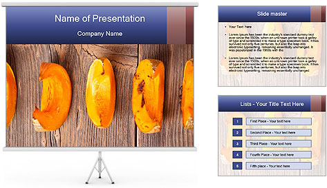 Baked Pumpkin PowerPoint Template