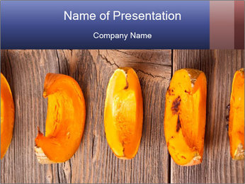 Baked Pumpkin PowerPoint Template - Slide 1