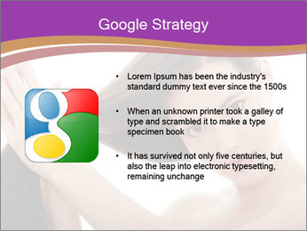 Long Dark Hair PowerPoint Templates - Slide 10