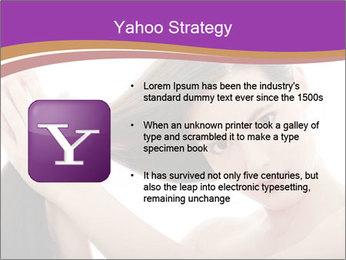 Long Dark Hair PowerPoint Templates - Slide 11
