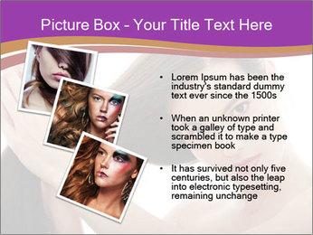 Long Dark Hair PowerPoint Templates - Slide 17