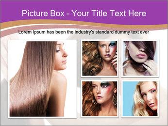 Long Dark Hair PowerPoint Templates - Slide 19