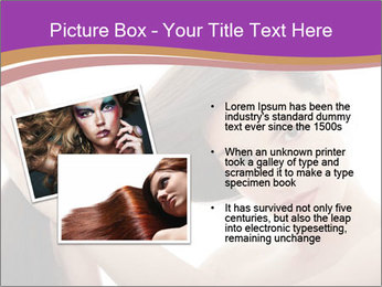 Long Dark Hair PowerPoint Templates - Slide 20