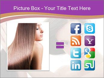 Long Dark Hair PowerPoint Templates - Slide 21