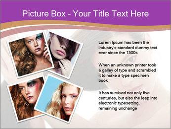 Long Dark Hair PowerPoint Templates - Slide 23