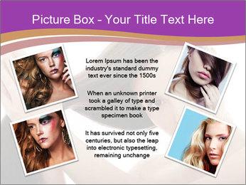 Long Dark Hair PowerPoint Templates - Slide 24