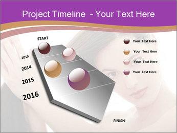 Long Dark Hair PowerPoint Templates - Slide 26