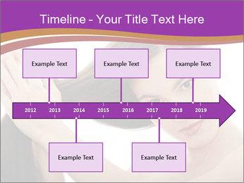 Long Dark Hair PowerPoint Templates - Slide 28