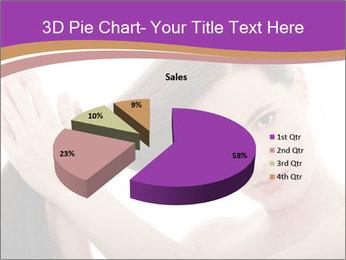 Long Dark Hair PowerPoint Templates - Slide 35