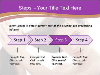 Long Dark Hair PowerPoint Templates - Slide 4