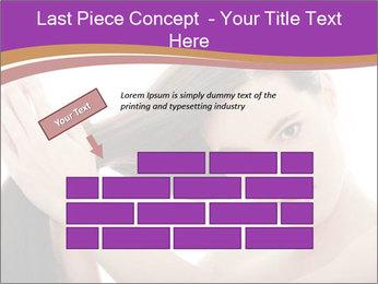 Long Dark Hair PowerPoint Templates - Slide 46