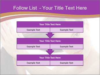 Long Dark Hair PowerPoint Templates - Slide 60