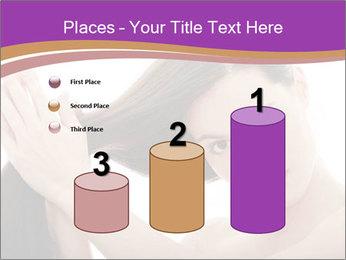 Long Dark Hair PowerPoint Templates - Slide 65