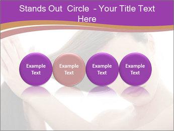 Long Dark Hair PowerPoint Templates - Slide 76