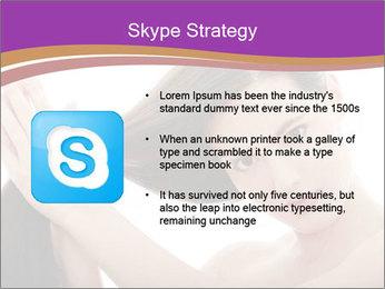 Long Dark Hair PowerPoint Templates - Slide 8