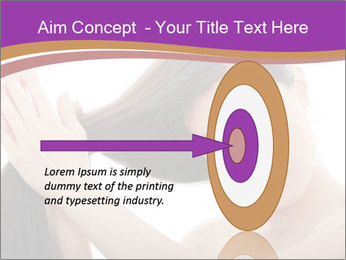 Long Dark Hair PowerPoint Templates - Slide 83