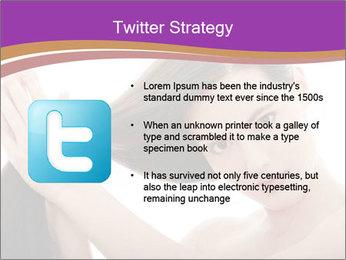 Long Dark Hair PowerPoint Templates - Slide 9