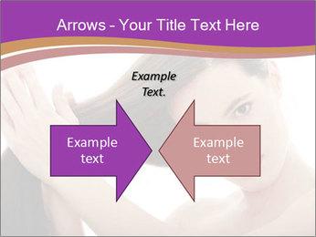 Long Dark Hair PowerPoint Templates - Slide 90