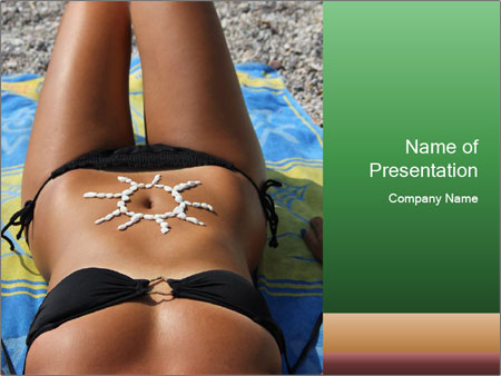 Woman With Bronze Skin PowerPoint Templates