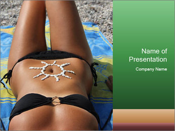 Woman With Bronze Skin PowerPoint Template