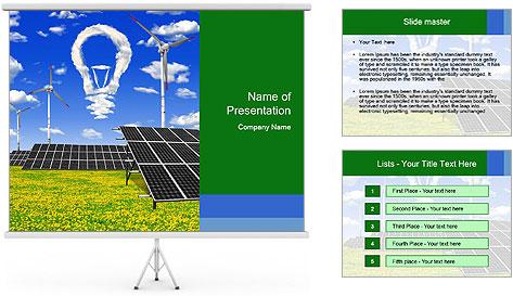 Solar Pannel Concept PowerPoint Template