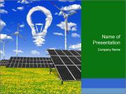 Solar Pannel Concept PowerPoint Templates
