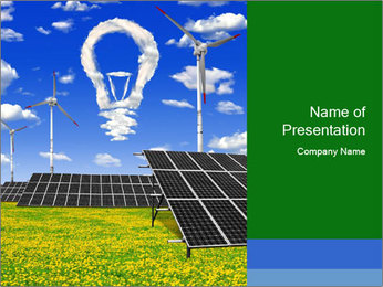 Solar Pannel Concept PowerPoint Template - Slide 1