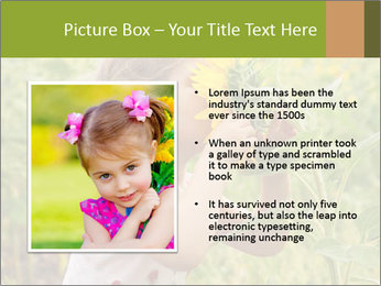 Girl And Sunflower PowerPoint Template - Slide 13