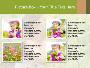 Girl And Sunflower PowerPoint Template - Slide 14