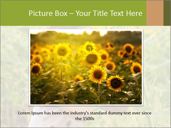 Girl And Sunflower PowerPoint Template - Slide 16