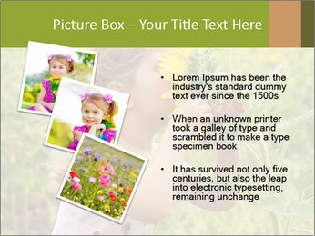 Girl And Sunflower PowerPoint Template - Slide 17