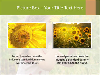 Girl And Sunflower PowerPoint Template - Slide 18