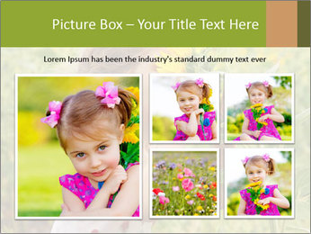 Girl And Sunflower PowerPoint Template - Slide 19