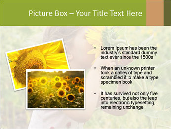 Girl And Sunflower PowerPoint Template - Slide 20