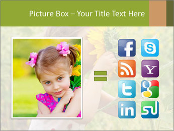 Girl And Sunflower PowerPoint Template - Slide 21