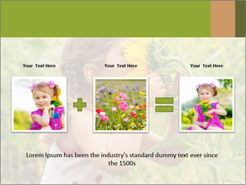 Girl And Sunflower PowerPoint Template - Slide 22