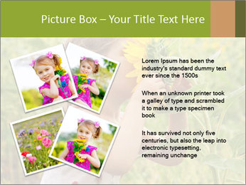 Girl And Sunflower PowerPoint Template - Slide 23