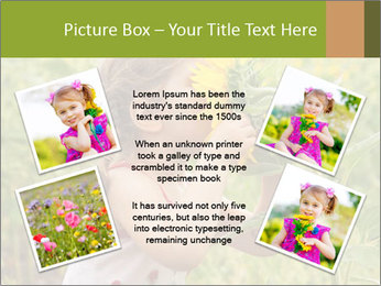 Girl And Sunflower PowerPoint Template - Slide 24
