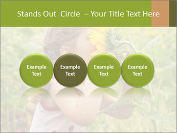 Girl And Sunflower PowerPoint Template - Slide 76