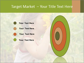 Girl And Sunflower PowerPoint Template - Slide 84